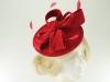 Failsworth Millinery Wool Felt Disc Headpiece in Red