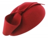 Failsworth Millinery Wool Felt Pillbox in Red