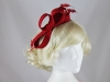 Failsworth Millinery Wool Loops Fascinator in Red