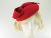 Failsworth Millinery Wool Felt Pillbox in Red
