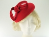 Failsworth Millinery Wool Felt Pillbox Headpiece in Red