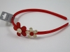 Flower Aliceband in Red