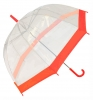 Hawkins Clear Umbrellla in Red