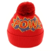 Kids Slogan Ski Hats in Red