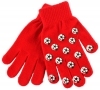 Magic Football Gripper Gloves in Red