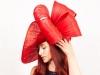 Matthew Eluwande Millinery Lady D in Red
