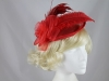 Rose and Feather Disc in Red