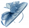 Failsworth Millinery Sinamay Disc Headpiece in Regatta