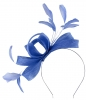 Failsworth Millinery Wide Loops Fascinator in Regatta