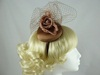 Rose Headpiece in Coffee