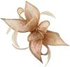 Failsworth Millinery Sinamay Diamante Clip Fascinator in Rose-Gold