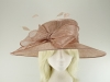 Failsworth Millinery Wide Brimmed Events Hat in Rose-Gold
