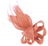 Elegance Collection Loops and Leaves Fascinator in Rose
