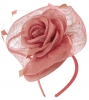 Elegance Collection Rose Pillbox Headpiece in Rose