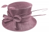 Failsworth Millinery Bow Wedding Hat in Rose