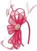Elegance Collection Sinamay Headpiece Fascinator in Rosie