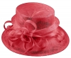 Elegance Collection Sinamay Loops Wedding Hat in Rosie