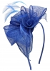 Aurora Collection Rosette and Loops Fascinator in Royal Blue