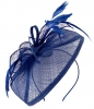 Aurora Collection Sinamay Veil and Leaves in Royal Blue