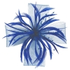 Aurora Collection Biots and Beads Fascinator in Royal Blue