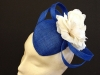 Couture by Beth Hirst Flower Percher in Royal Blue & Cream