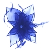 Failsworth Millinery Diamante Organza Fascinator in Royal Blue