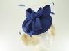 Failsworth Millinery Wool Felt Disc Headpiece in Royal Blue