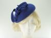 Failsworth Millinery Wool Felt Pillbox Headpiece in Royal Blue