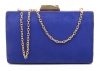 Papaya Fashion Clutch Box Bag in Royal Blue