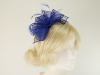 Rosette and Loops Fascinator in Royal Blue
