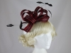 Hawkins Collection Two Tone Loops Headpiece in Ruby & Black