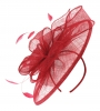 Failsworth Millinery Sinamay Headpiece in Ruby