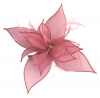 Failsworth Millinery Organza Petals Fascinator in Salmon