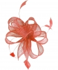 Hawkins Collection Sinamay Fascinator in Salmon