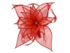 Failsworth Millinery Diamante Organza Fascinator in Salsa