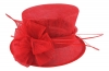 Failsworth Millinery Wedding Hat in Salsa