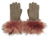 Alice Hannah Knitted Gloves in Sand