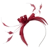 Failsworth Millinery Sinamay Fascinator in Sangria