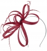 Failsworth Millinery Sinamay Loops Fascinator in Sangria