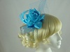 Failsworth Millinery Satin Flower Fascinator in Arctic