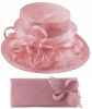 Elegance Collection Sinamay Wedding Hat with Matching Sinamay Bag in Lilac