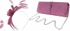 Failsworth Millinery Aliceband Sinamay Fascinator with Matching Bag in Orchid