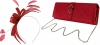 Failsworth Millinery Aliceband Sinamay Fascinator with Matching Bag in Samba