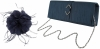 Failsworth Millinery Feather Fascinator with Matching Silk Occasion Bag in Midnight