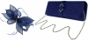 Failsworth Millinery Sinamay Clip Fascinator with Matching Occasion Bag in Cobalt