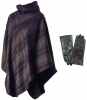 Failsworth Millinery Tweed Cape with Matching Gloves