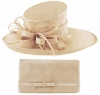 Max and Ellie Events Hat with Matching Large Occasion Bag in Chalk