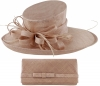 Max and Ellie Events Hat with Matching Occasion Bag in Dusk