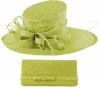 Max and Ellie Events Hat with Matching Occasion Bag in Lime