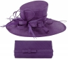 Max and Ellie Events Hat with Matching Occasion Bag in Violet
